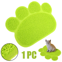 1PC Animal Claw Paw Shape Pets Feet Mat PVC Dog Cat Feeding Bowl Pads 30*40cm