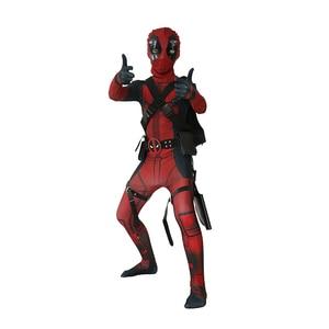 Image 1 - Bambino Ragazzi Deluxe Deadpool Attillato Spandex Zentai Suit Bambini Costume di Halloween Cosplay