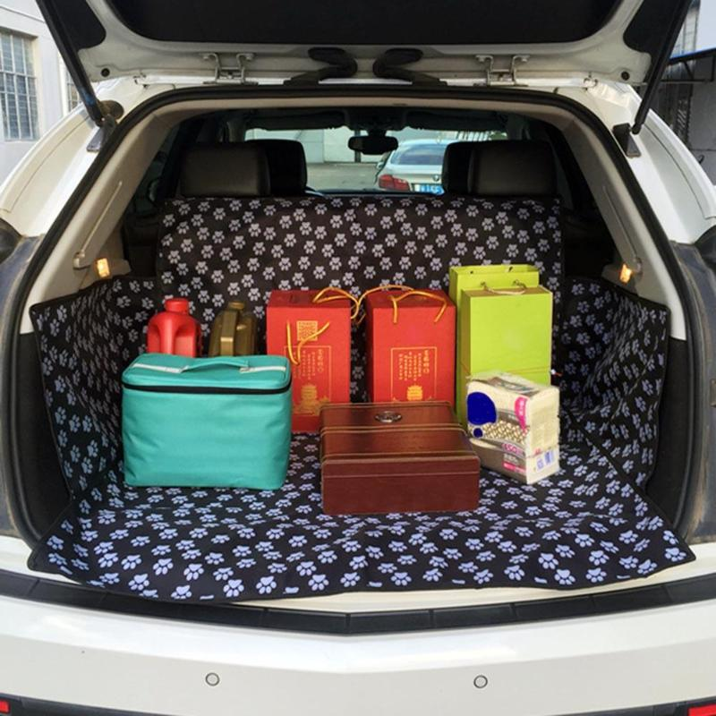 Pet Carrier Dog Car Seat Cover Waterproof Oxford Cloth Paw Pattern Trunk Mat Pet Dogs Cat Cushion Pad Pet Travel AccessoriesPet Carrier Dog Car Seat Cover Waterproof Oxford Cloth Paw Pattern Trunk Mat Pet Dogs Cat Cushion Pad Pet Travel Accessories