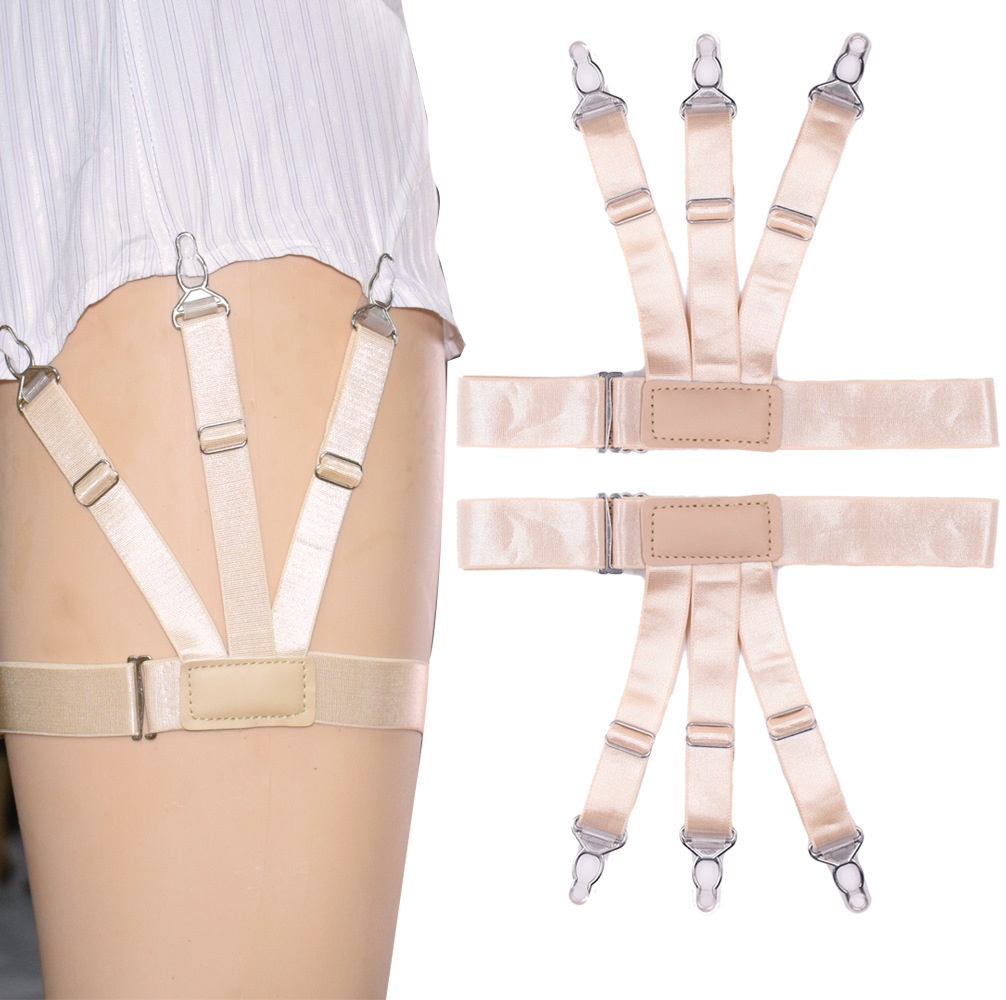 Men Women Shirt Garters Stays Business Suspenders Braces Garter Belt
