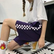 Korean Retro Harajuku Side Plaid Shorts SF