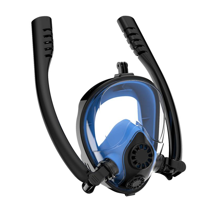Masque de plongée masque complet grande vue double Tube masque de plongée Anti-buée masque Anti-fuite avec détachable pour caméra d'action de montage