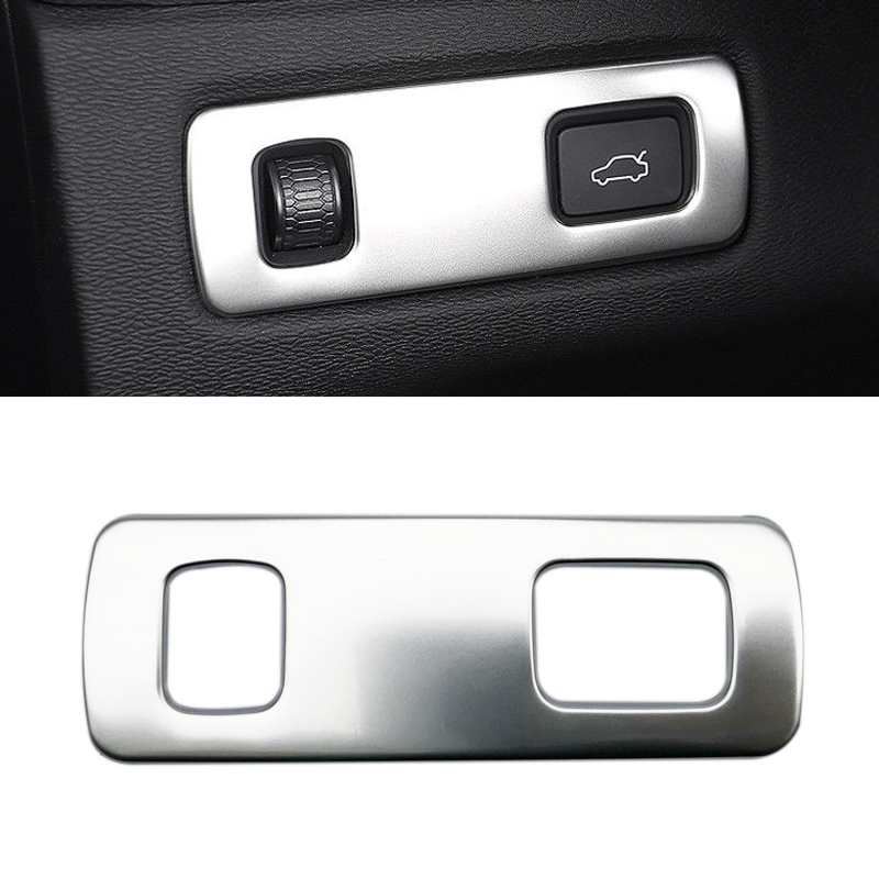 Silver Stainless Steel Front Headlight Switch Button Trim for <font><b>Volvo</b></font> <font><b>XC60</b></font> 2018 image