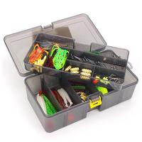 Plastic Fish Tackle Box Fishing Lures Hooks Set Box Multifunctional Lure Kit Accessories Cases