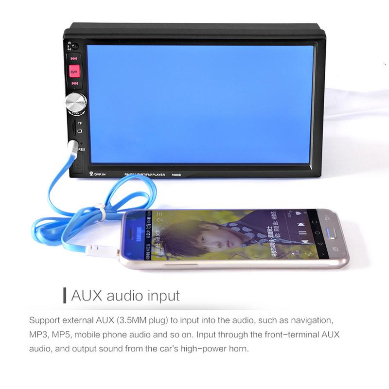 7 Inches Double DIN Bluetooth Car MP5 Player Without Camera Support Hands-free Calls And Across Two Cellphones Auto Accessories7 Inches Double DIN Bluetooth Car MP5 Player Without Camera Support Hands-free Calls And Across Two Cellphones Auto Accessories