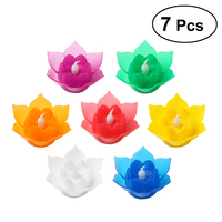 Pack of 7 PCS Durable LED Outdoor Candle Bright Flameless Tea Lights for Window Home Yard Wedding Birthday