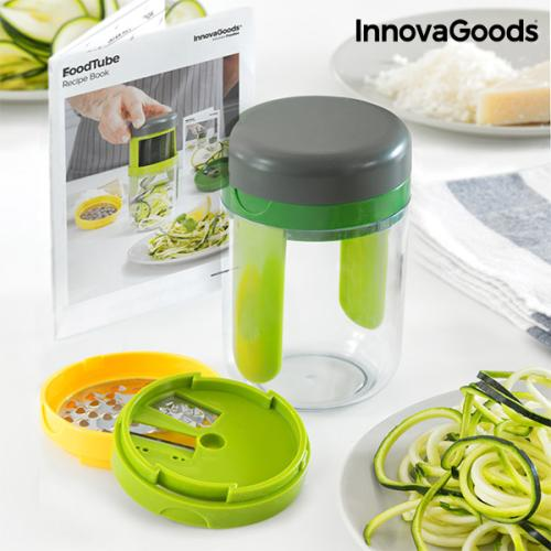 InnovaGoods FoodTube Spiralizer and Grater with Recipe Book image