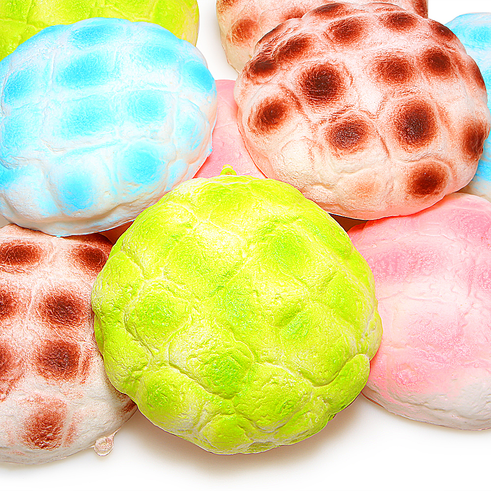 Jumbo Pineapple Bun Bread Squishy Super Slow Rising Phone Strap Bread Cream Scented Kids Toy