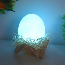 LED Dinosaur Egg Night Light RGB 16-Color Lamp USB Rechargeable Colorful Flapping For Kids Gift Bedroom