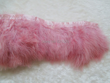 2Yards/lot-CORAL Turkey Marabou Feather Trim Fringe for Dress Up Show Christmas Feather Trim,Skin Pink Feather Fringe fringe trim tweed blouse
