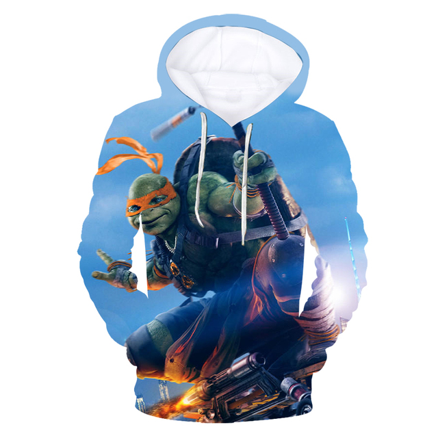 438bfe55db9 2018 autumn and winter brave Teenage Mutant Ninja Turtle T-shirt   hoodie    sweatshirt cuteT-shirt unisex T-shirt top