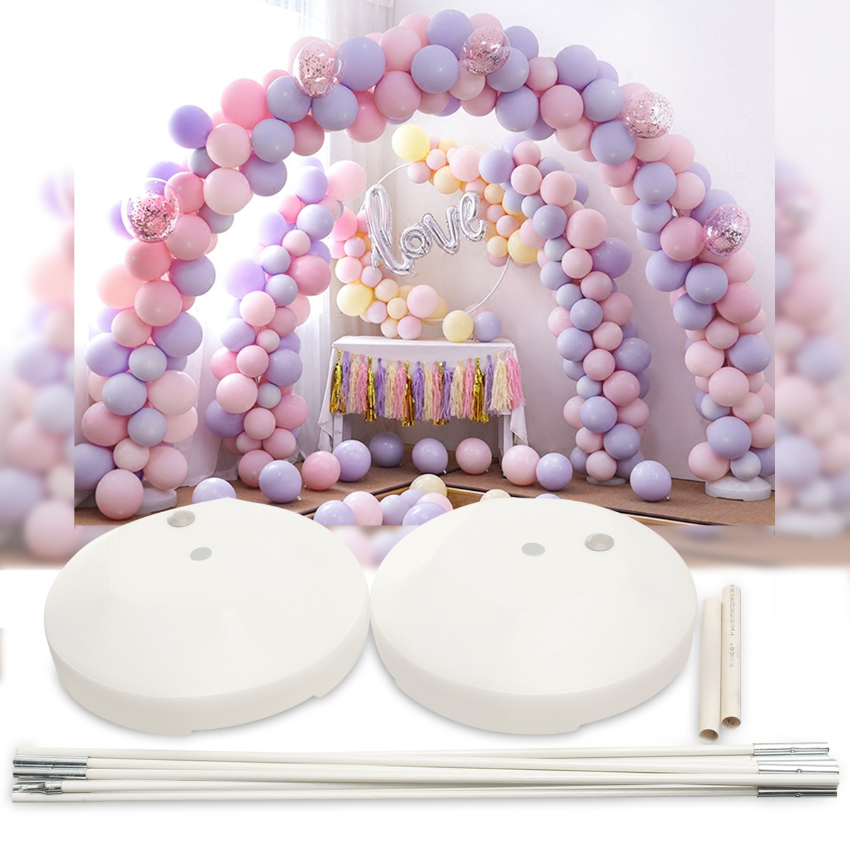Balloon Arch Kit Birthday Party Wedding Large Set Column Frame Arch Column Stand Base DIY Decoration
