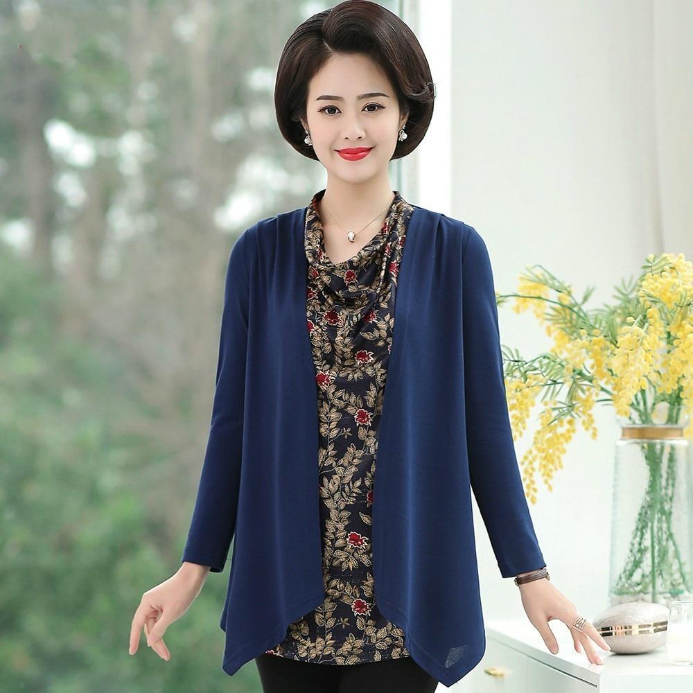 Nouveau femmes à manches longues col en V imprimé Floral hauts mode dames printemps automne blouse décontractée lâche chemise de grande taille 5XL
