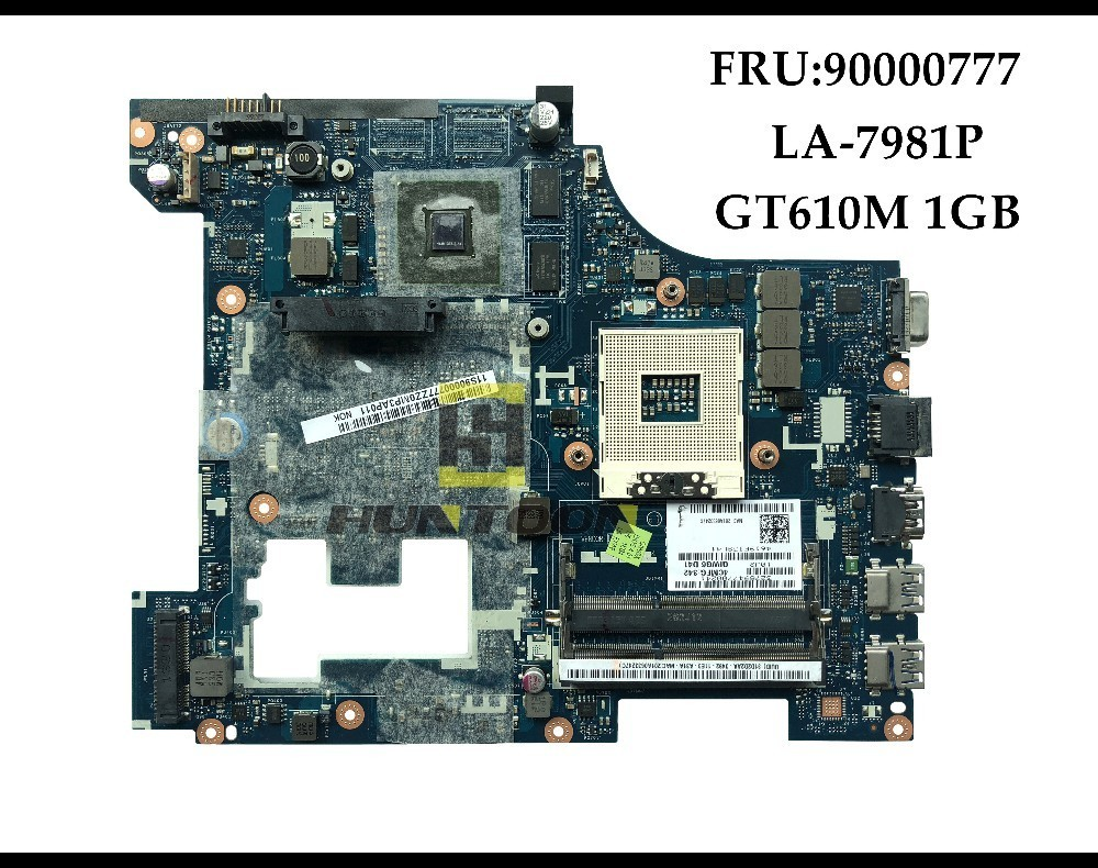 Genuine FRU 90000777 for Lenovo Ideapad G580 laptop Motherboard QIWG5 G6 G9 LA 7981P HM76 PGA989
