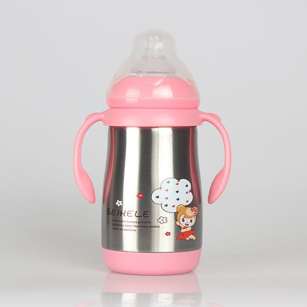 Baby Articles Excellent Music loving Heat Preservation Feeding Bottle Stainless Steel Bring Handle Feeding Bottle