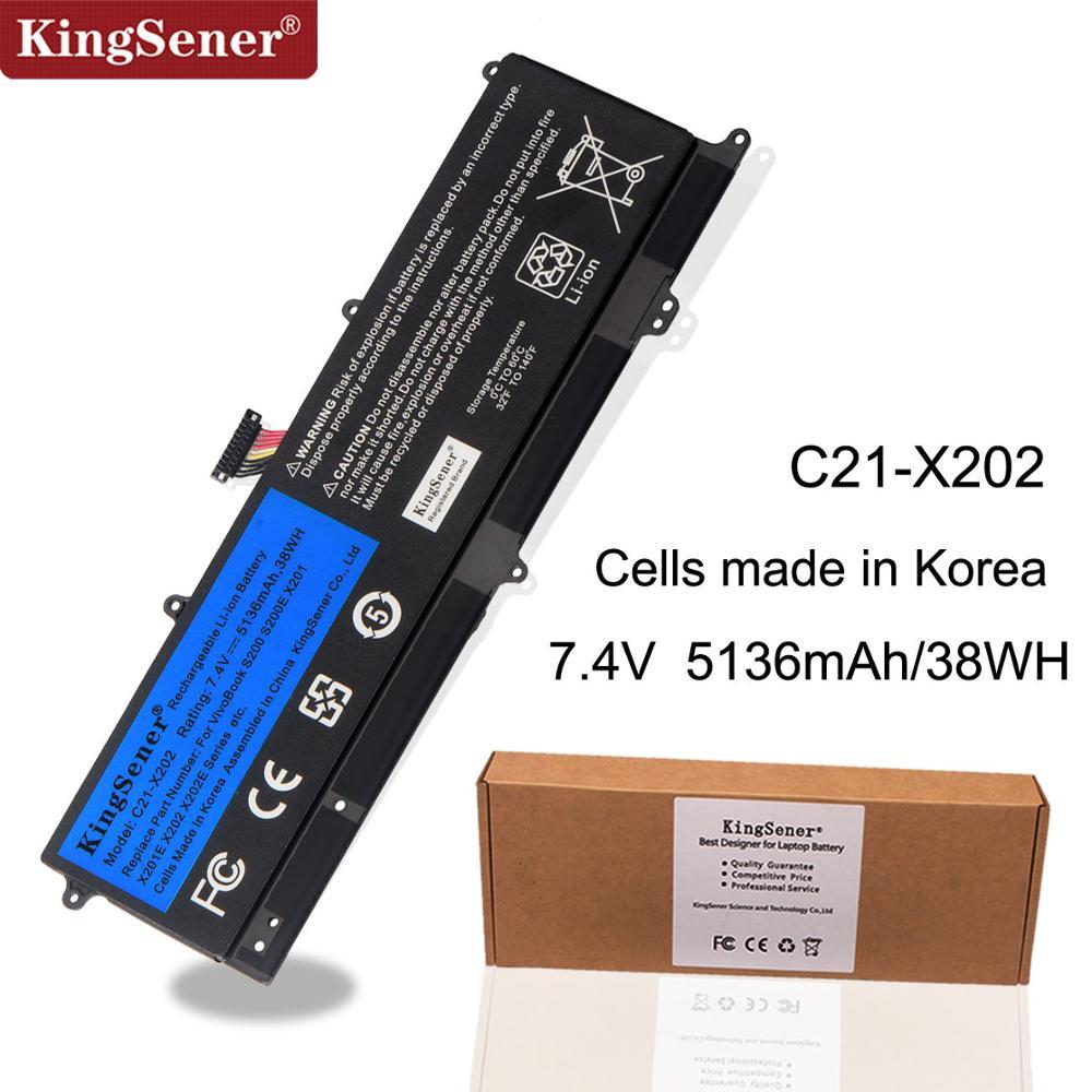 KingSener C21-X202 Laptop Battery for ASUS VivoBook S200 S200E X201 X201E X202 X202E S200E-CT209H S200E-CT182H S200E-CT1 5136mAhKingSener C21-X202 Laptop Battery for ASUS VivoBook S200 S200E X201 X201E X202 X202E S200E-CT209H S200E-CT182H S200E-CT1 5136mAh