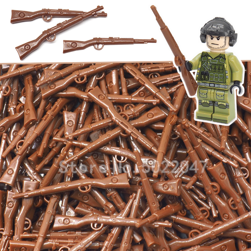 Germany System Moc Rifle Building Blocks Lot Weapon Military Moc Ww2 Figures Diy Gift Set Toys For Children With Legoinglys