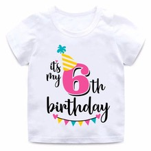 Kids Happy Birthday Number Letter Print T shirt