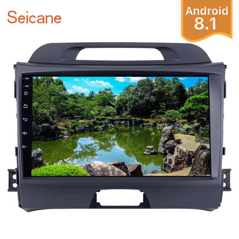 "Seicane Android 8.1 Multimedia Player 9"" Wifi Car Radio 2Din GPS Stereo For KIA Sportage 2010 2011 2012 2013 2014 2015 Head Unit-in Car Multimedia Player from Automobiles & Motorcycles    1"