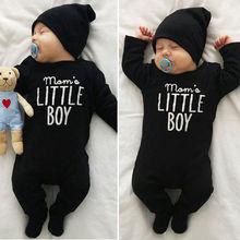 Pudcoco Boy kombinezony 0-24M moda noworodek Boys Baby Romper kombinezon stroje ubrania tanie tanio COTTON List Dla dzieci O-neck Swetry Pajacyki Pełna
