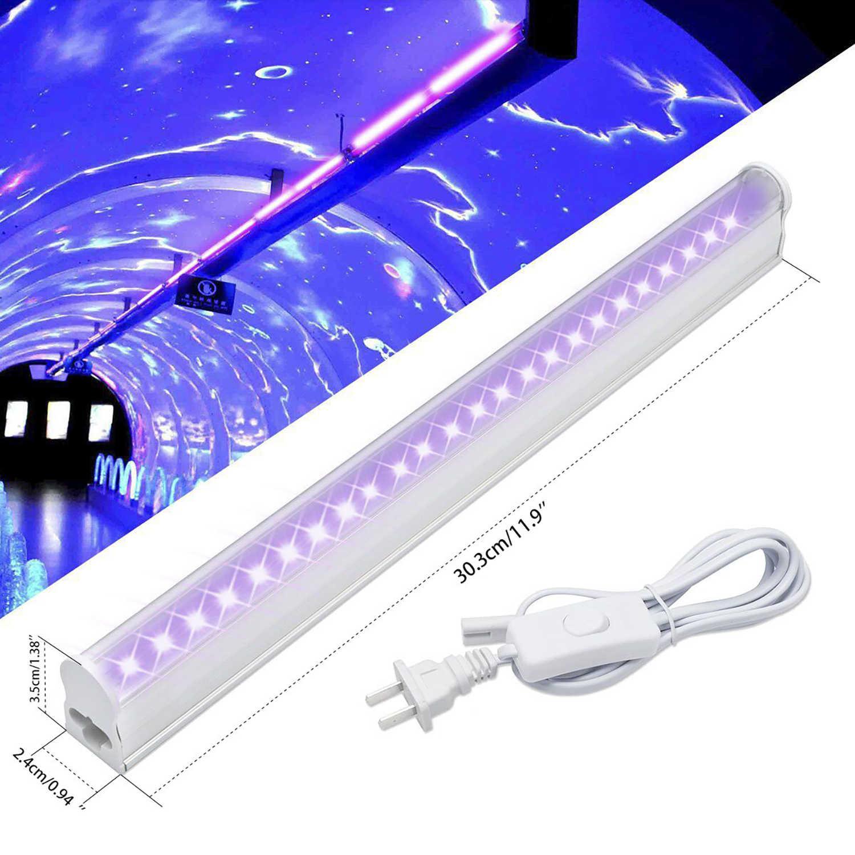 נייד Blacklight מנורת עבור UV פוסטר UV אור FixturesUV אמנות Dimmable Blacklight אולטרה סגול 6 w LED מנורת עבור DJ המפלגה