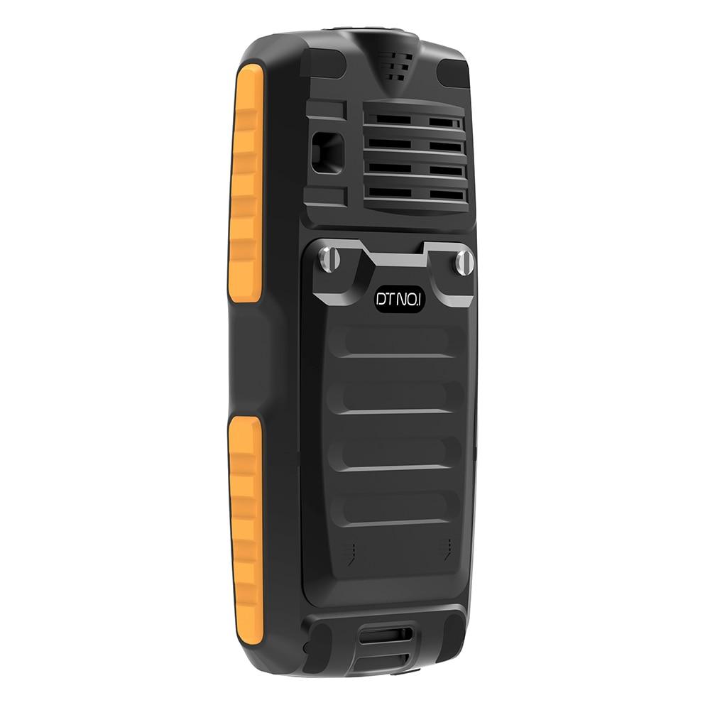 DTNO.1 A11 X5000 Téléphone 1.77 ''IP67 Quadri-Bande Débloqué Dual SIM Étanche À La Poussière lampe de Poche MP3 batterie externe Pas Cher Téléphone Portable