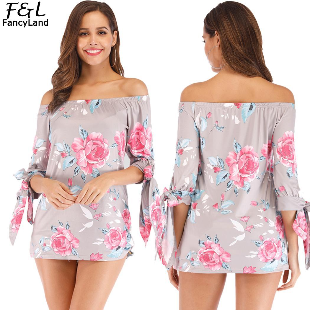 Summer T Shirt Woman Fashion Half Sleeve T-shirt Female Women Tshirt No Relaxed Off Shoulder Floral Tops T-shirts Women