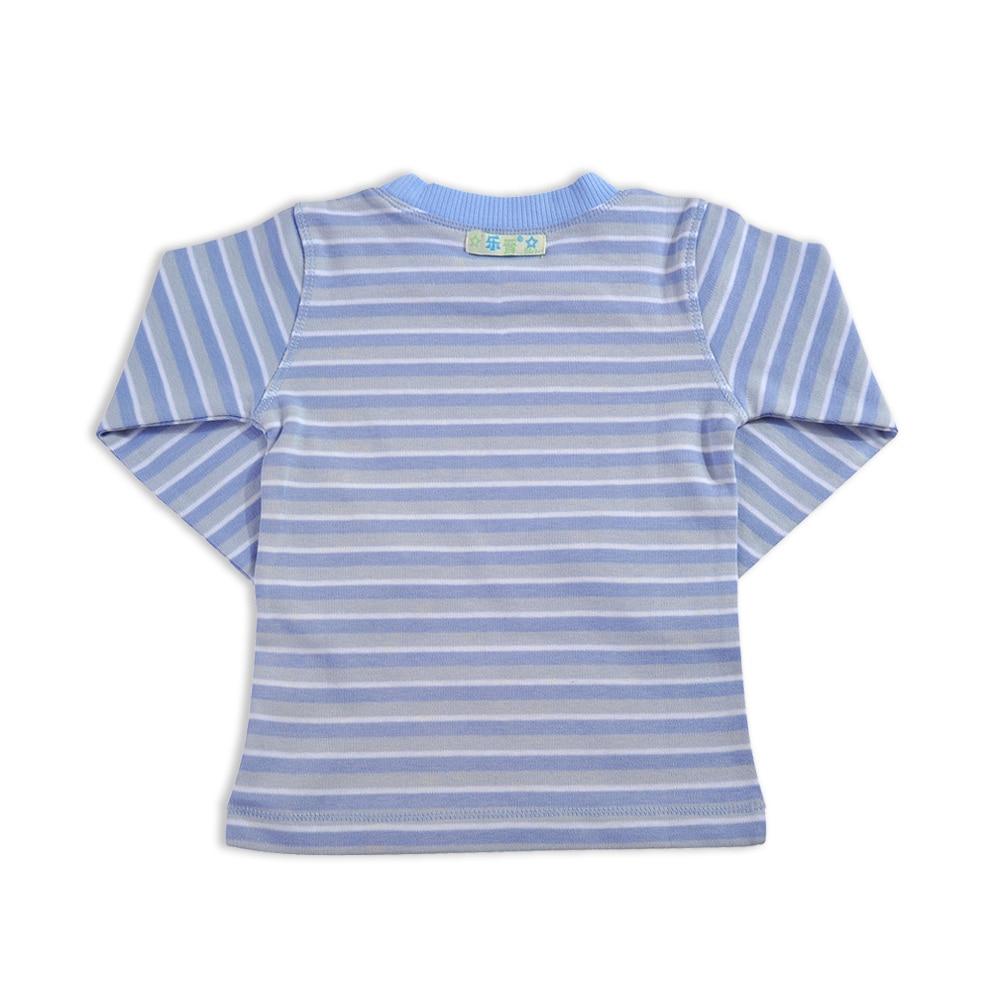 Baby Boys Striped T Shirt O Neck Tops Boy Polo Shirt - ტანსაცმელი ჩვილებისთვის - ფოტო 2