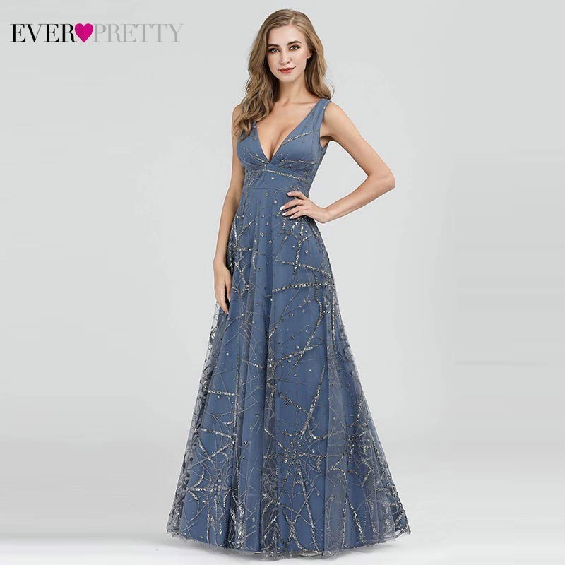 Robe De Soiree Evening Dresses Ever Pretty EP07860 Sexy V-Neck Sleeveless A-Line Formal Dresses Elegant Evening Gown Abiye 2019