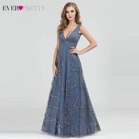 Robe De Soiree Evening Dresses Ever Pretty EP07860 Sexy V Neck Sleeveless A Line Formal Dresses Elegant Evening Gown Abiye 2019