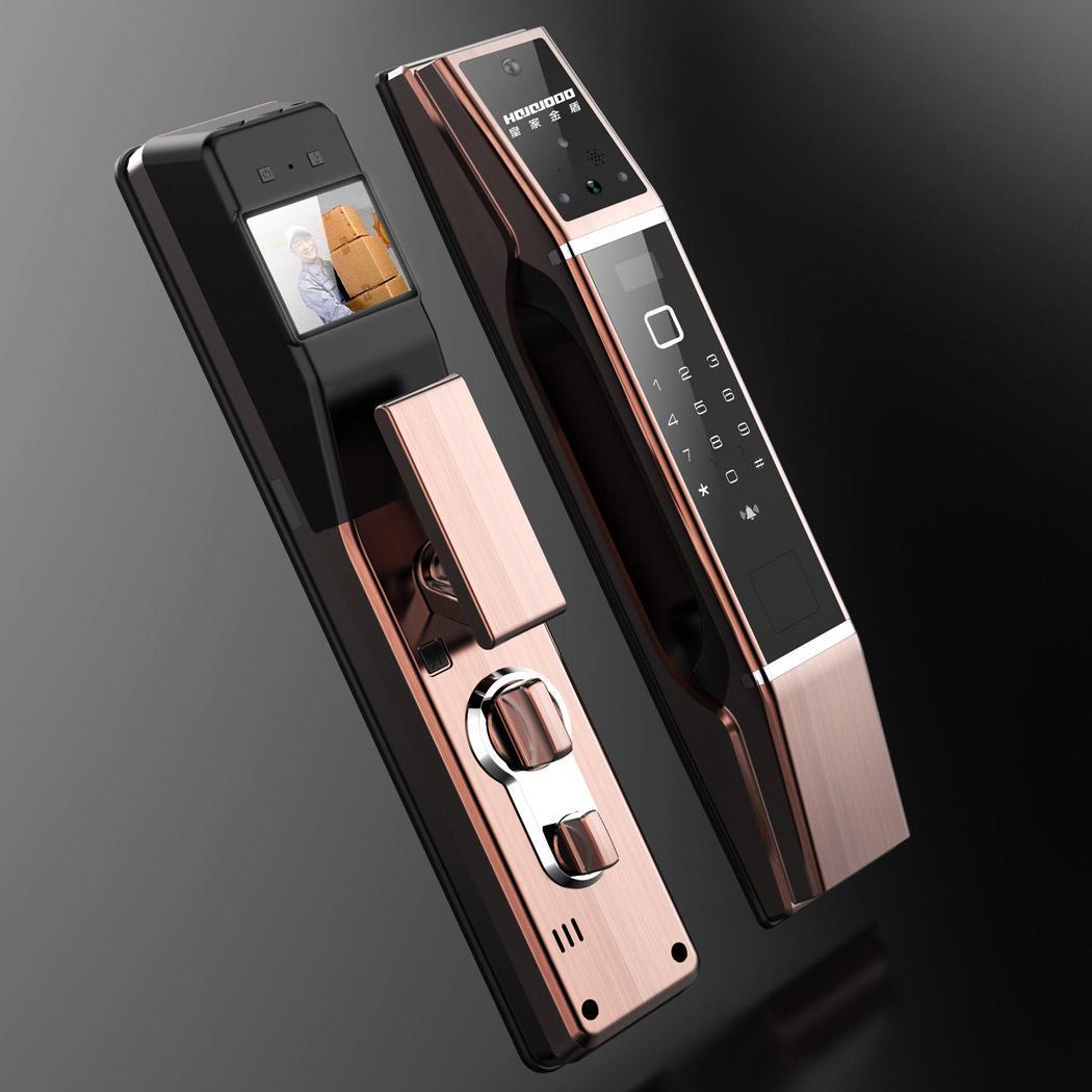 Mot de passe serrure de porte numérique Smart Home contrôle d'accès serrure Identification d'empreintes digitales, reconnaissance de mot de passe, carte de proximité, clé,