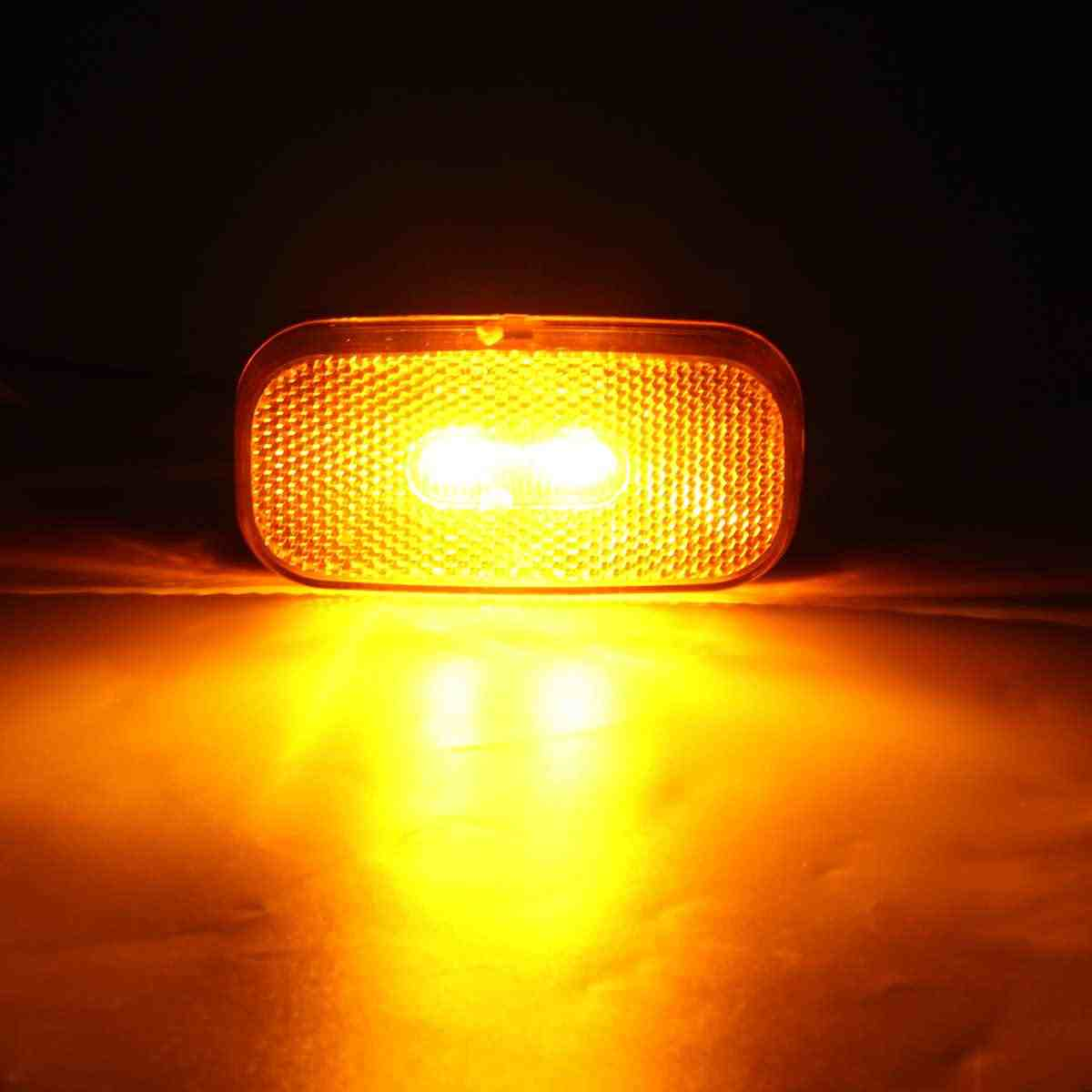 Detail Feedback Questions About 12 24v Caravan Rv Led Side Marker Trailer Clearance Light With Reflector 2 Wire For Truck Indicator Lamp Red