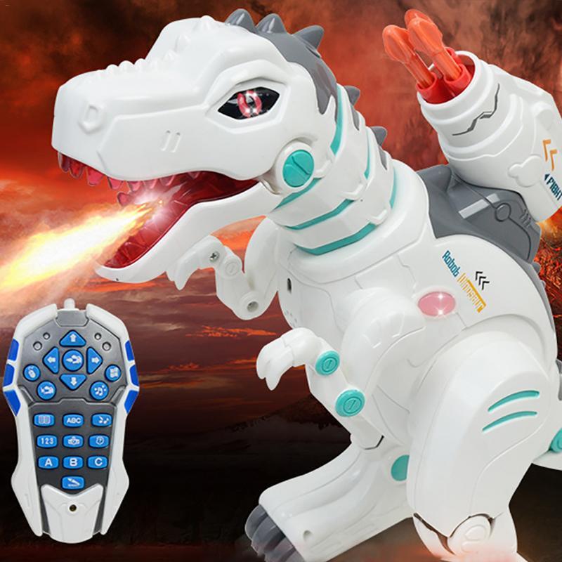 Enfants télécommande électrique tyrannosaure dinosaure Rechargeable multifonction Puzzle Spray tyrannosaure modèle dinosaure