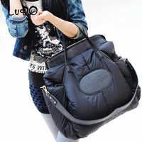 LUCDO hiver femmes sacs à Main mode espace coton matériel grand paquet doudoune Sac dames chaud fourre-tout Sac un Sac à Main Bolsa