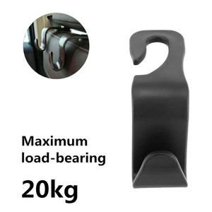 Image 3 - 1pc Bearing 20kg Car Hook Car Seat Rear Hook Clip Auto Headrest Hanger Bag Holder Car Purse Cloth Grocery Storager Car Accessory