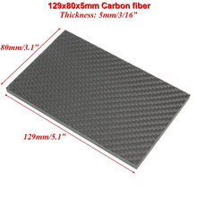 5mm CF129805 5x129x80mm 100% Carbon Fiber Plate Panel Sheet Blade Scales Handle Weave Plain Twill Weave Matt Glossy Surface(China)