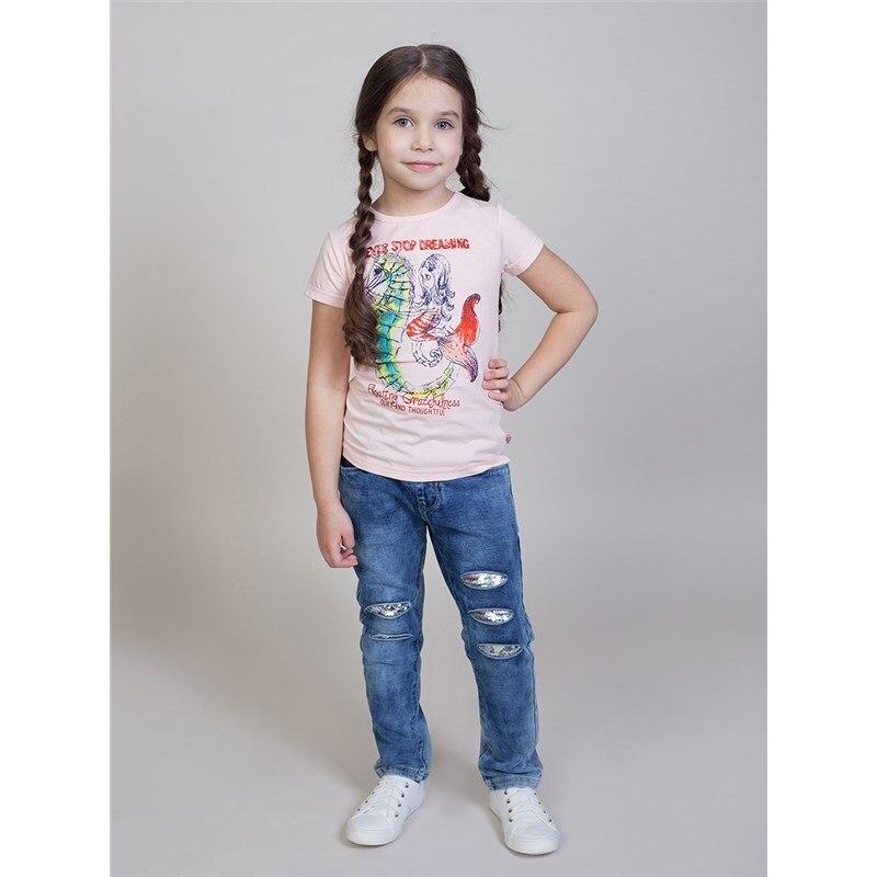 T-Shirts Sweet Berry T-shirt knitted for girls children clothing cute cat pattern t shirt mesh skirt twinset for girls