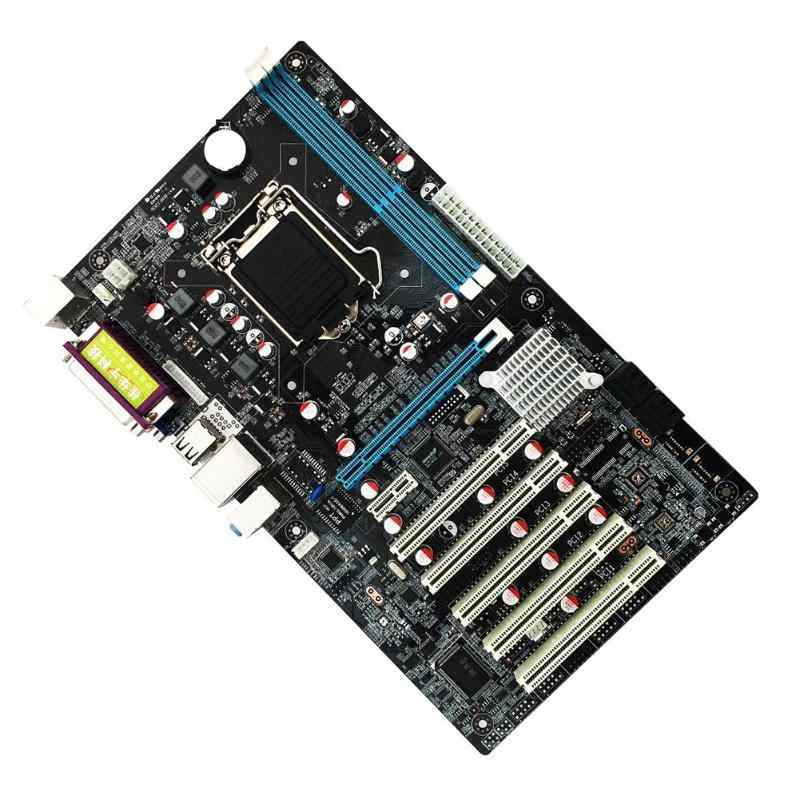 H61 DVR PC Computer Motherboard LGA 1155 5 PCI Slot Monitor ATX COM DDR3 Double Dual Channel Mainboard for Intel Core 2nd 3rd
