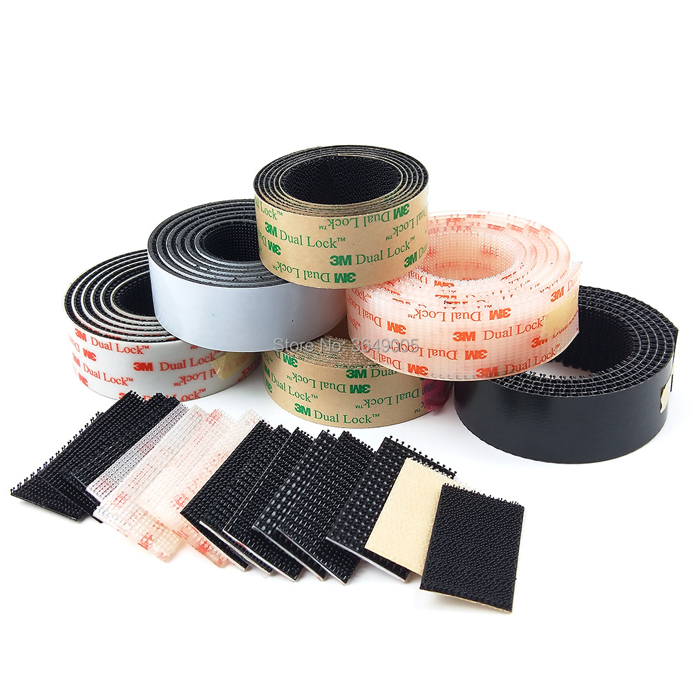 Dual Lock SJ3550/SJ3560 Black or Clear VHB adhesive tape Mushroom Fastener Tape, Type 250