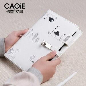Image 3 - CAGIE śliczne notes podróżnika napełniania A5 segregator osobisty pamiętnik spirala Filofax A6 planista dzielniki skórzany organizer Agenda
