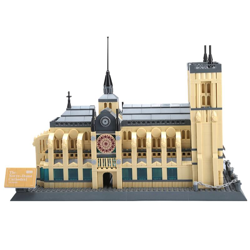 Luerme Notre Dame 3D Puzzle Puzzle Toy Building Model Notre Dame De Paris Jigsaw Puzzle Toy Notre Dame Cathedral-in Model Building Kits from Toys & Hobbies    1