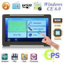 T600 Портативный 7 дюймов Android автомобиля DVD MP5 мультимедиа плеер Car gps трекер Navi 256 МБ+ 8 Гб gps навигатор+ карта gps трекер