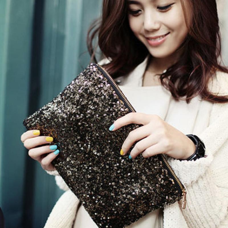New Luxury Handbags Women Sequin Envelope Bags Designer Party Mini Clutch Wallet Evening Handbags Purse Bolsa Feminina #1103