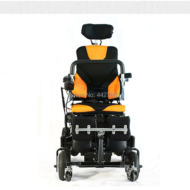 2019 High quality safty foldable stand up electric font b wheelchair b font best choice for