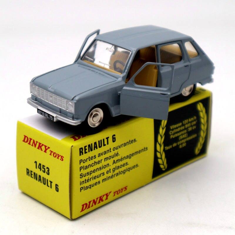 Atlas 1/43 Dinky toys ref 1453 Renault 6 / R6 phase II 다이 캐스트 모델 한정판 컬렉션 자동차 자동차 선물