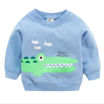 1pc baby Clothes Girls Boys Sweatshirts baby soft cotton Top Cartoon sweater Children Spring autumn pullover Kids Outerwear 1