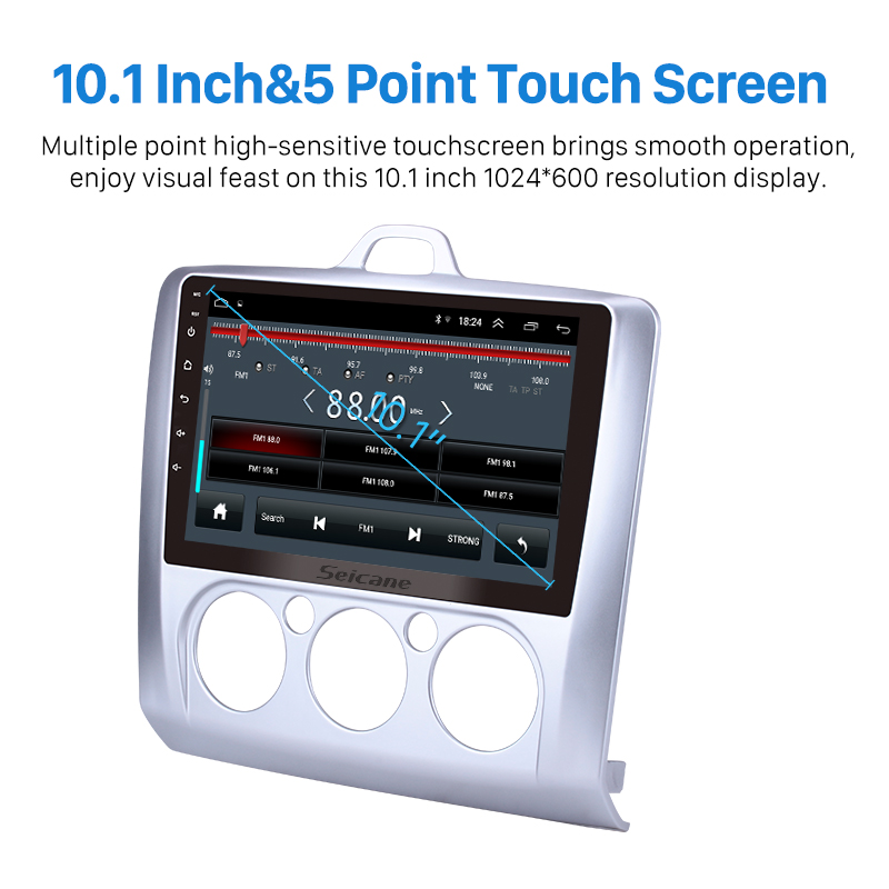 "Image 3 - Seicane Android 8.1 9"" RAM 2GB+ ROM 32GB 2Din Car Radio GPS Multimedia Unit Player For Ford Focus 2 Exi MT 2004 2005 2012 radio-in Car Multimedia Player from Automobiles & Motorcycles"