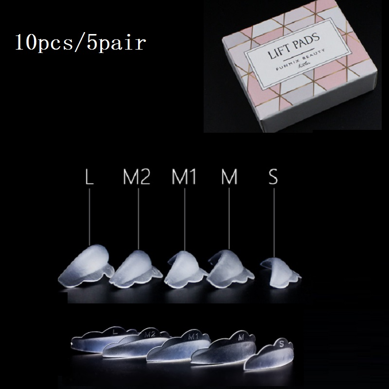 10pcs/5Pair Recycling Silicone Eyelash Perm Pad  Lashes Rods Shield Lifting 3D Eyelash Growth Treatment Perming Tools  TSLM1