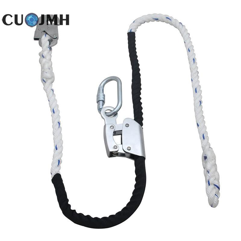 White Double Insurance Power Electric Worker Waist Belt Electrician Safety Belt Harness Pole Climbing Rope Lifting Sling murphy m sling enr1x14 endless round sling purple x 14 synthetic rigging crane lifting belt