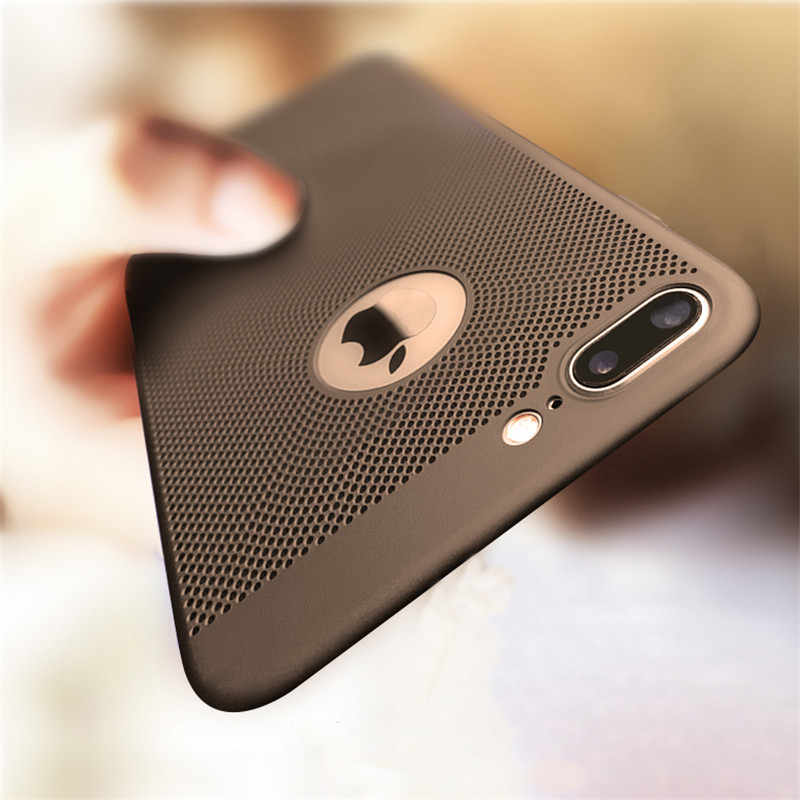 Ultra Thin Heat Dissipation Case On The For iphone X Xs Max Xr Hard PC Full Cover For iphone 7 8 6 6s Plus Matte Protective Case